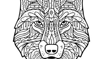 Loup Mandala Coloriage Pour Adulte à Imprimer Artherapieca