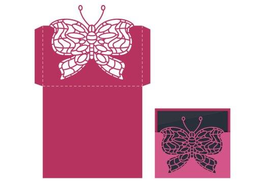 Bricolage artherapie à découper enveloppe papillon