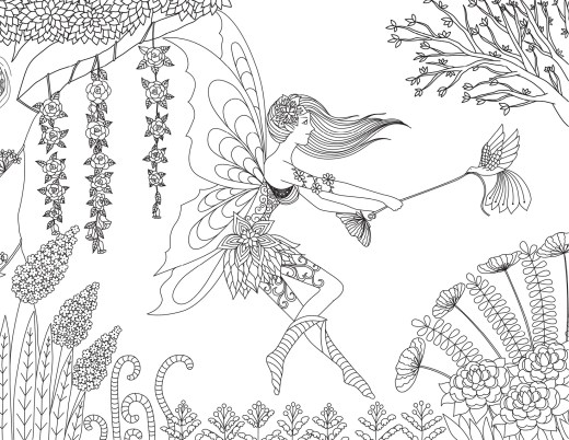 Rêve de fée à imprimer et dessiner gratuitement