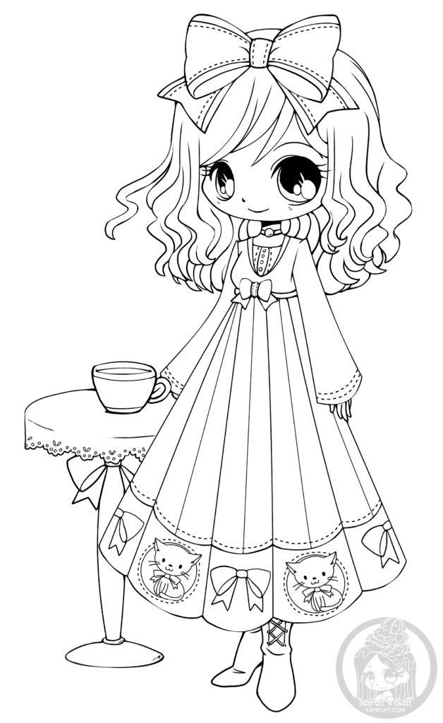 Dessin Chibi à imprimer le café d'Annabelle par YamPuff