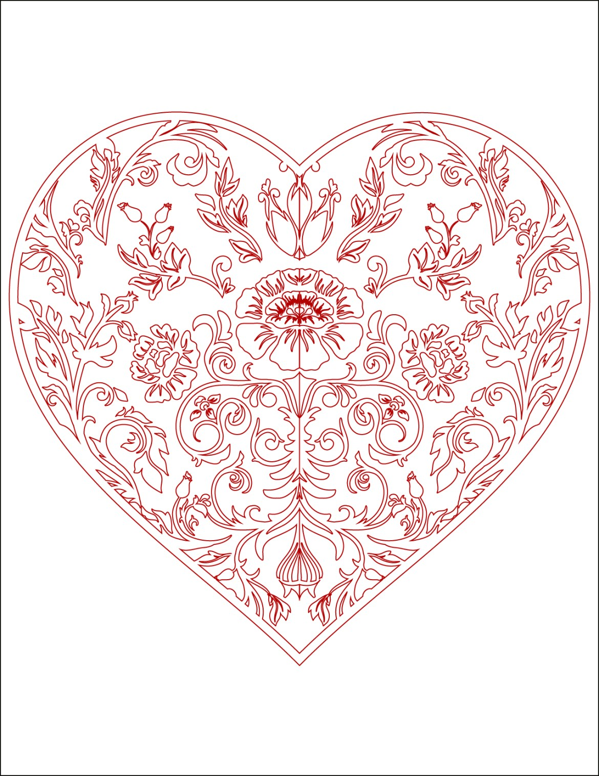 Coloriage Coeur Motif.Image De Bonjour D Amour Coloriage Coeur A Imprimer