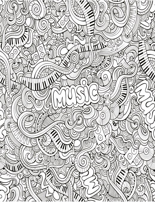 Zendoodle très difficile musique à imprimer