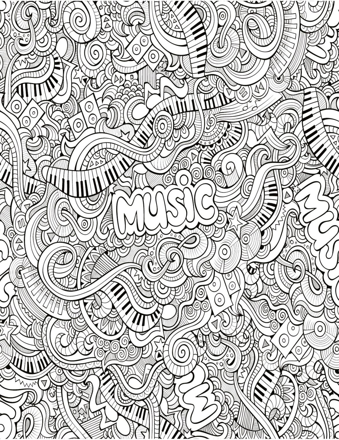 Zendoodle tr¨s difficile musique  imprimer