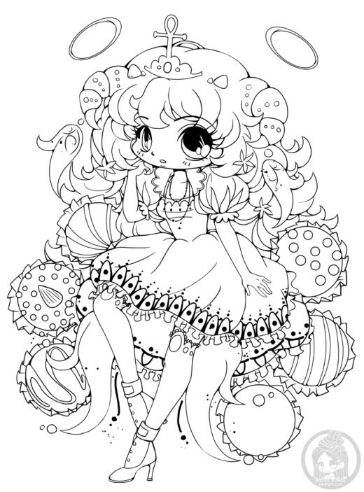 Coloriage manga Chibi truffe par Yampuff