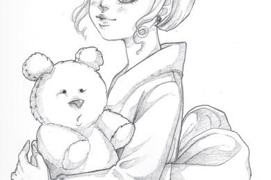 Sketch personnage chibi coloriage pour imprimer par Dar-Chan