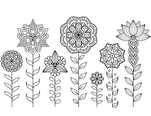 Dessin a imprimer de mandala fleurs automne