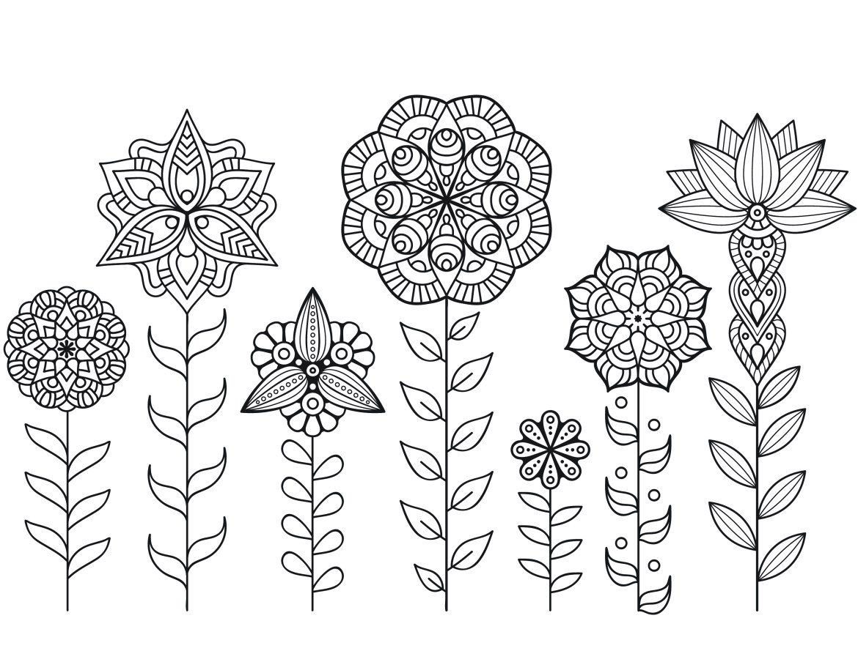 Dessin a imprimer de mandala fleurs automne - Mandala fleur ...