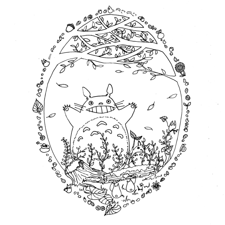 Site pour imprimer des coloriages Totoro par Chocobo