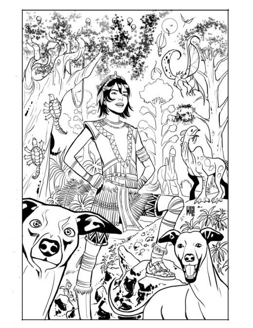 BD Walter Geovani coloriage pour imprimer Wonderfall