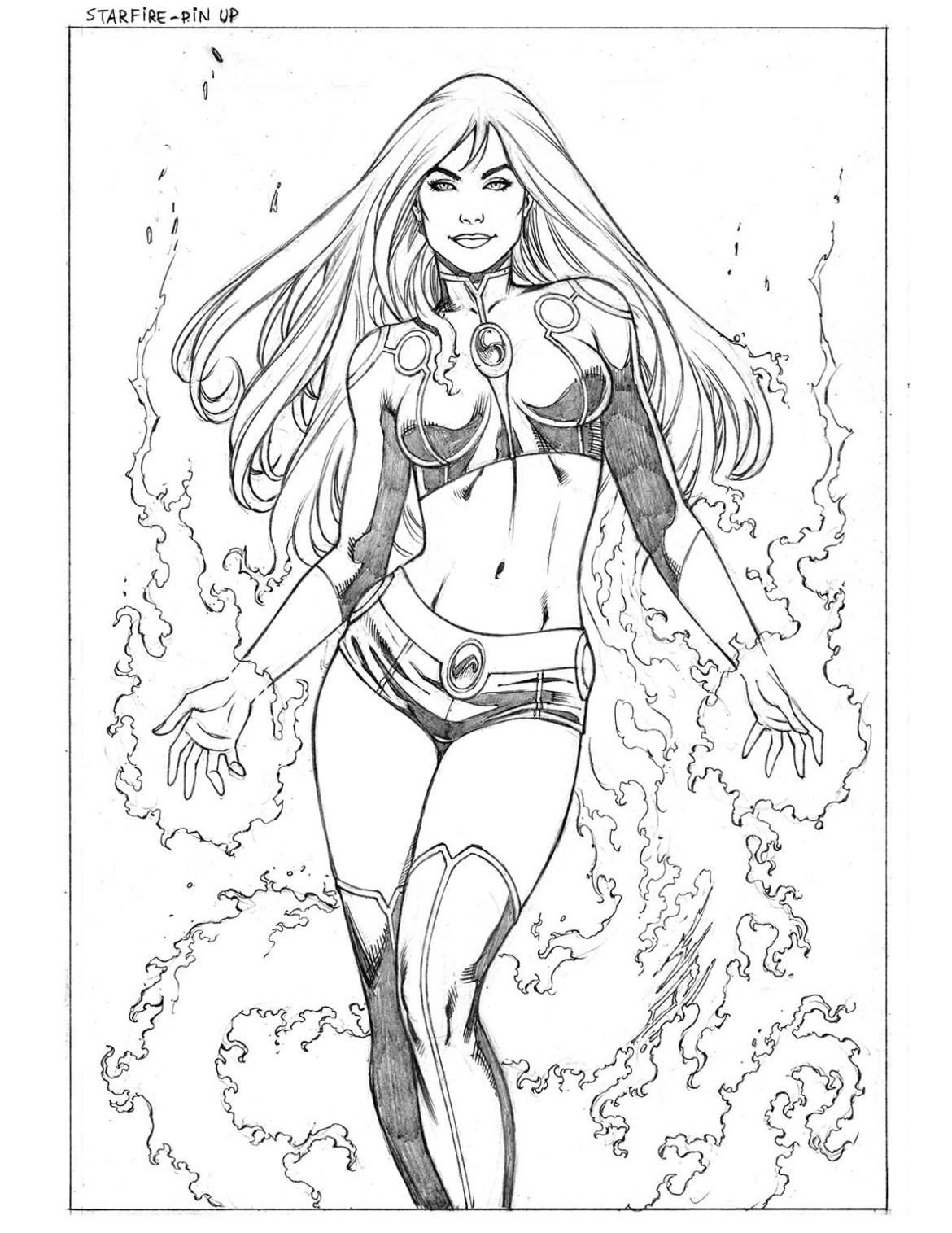 Starfire univers de DC Comics par Walter Geovani