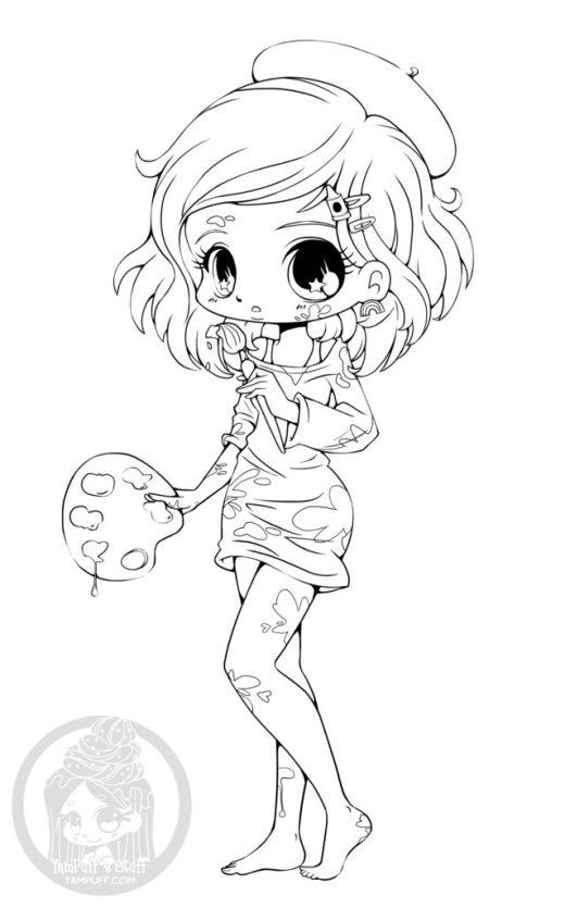 Manga coloriage gratuit par YamPuff coloring pages