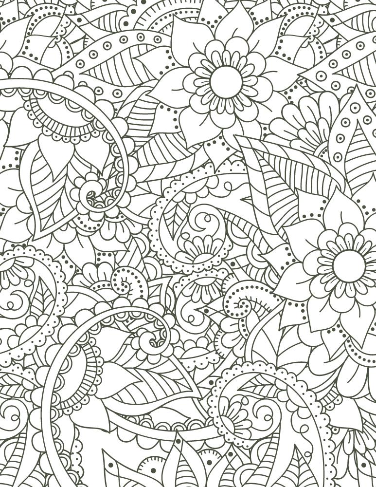 coloriage mandala imprimer motif fleurs pour adulte - Coloriage Imprimer Adulte