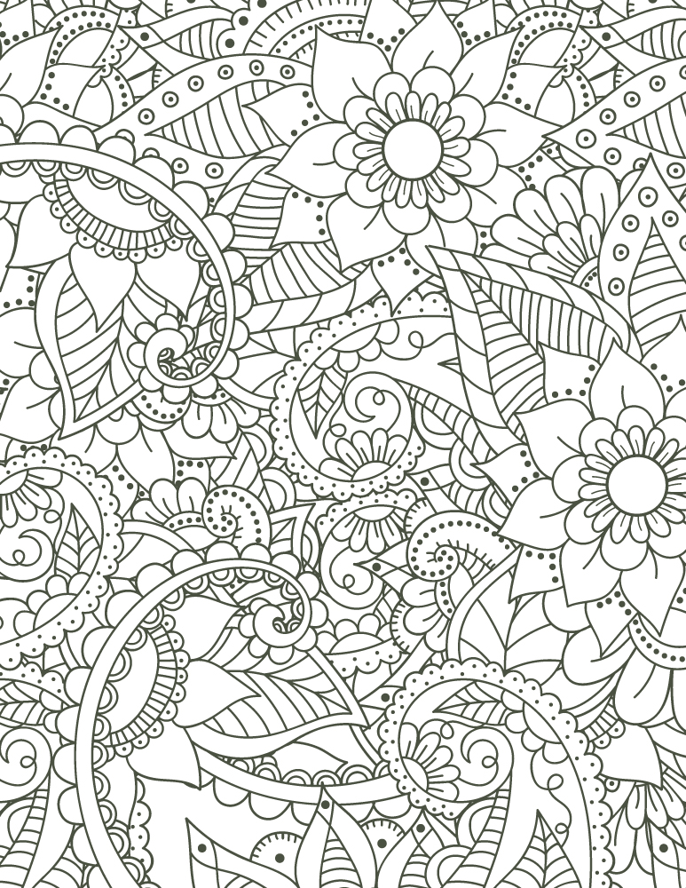 coloriage mandala imprimer motif fleurs pour adulte. Black Bedroom Furniture Sets. Home Design Ideas
