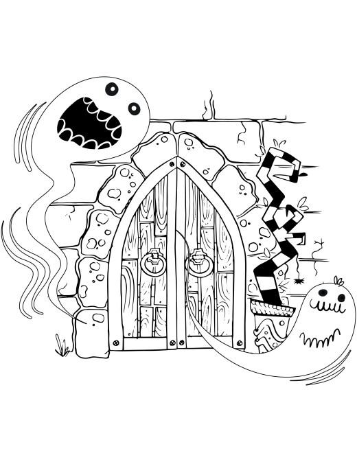 Site pour imprimer des coloriages art thérapie dessin fantome