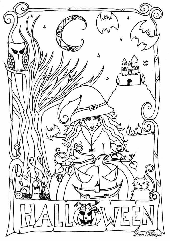 Dessins halloween imprimer gratuit par Leen Margot - Artherapie.ca