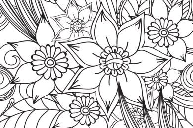 Imprimer des coloriages très difficile motif fleurs