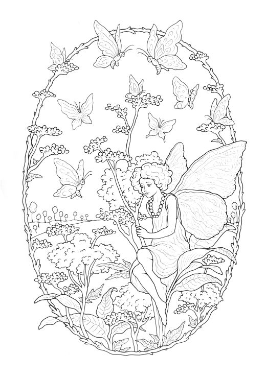 Dessin jardin enchanté à imprimer par Konstantinos Liaramantzas