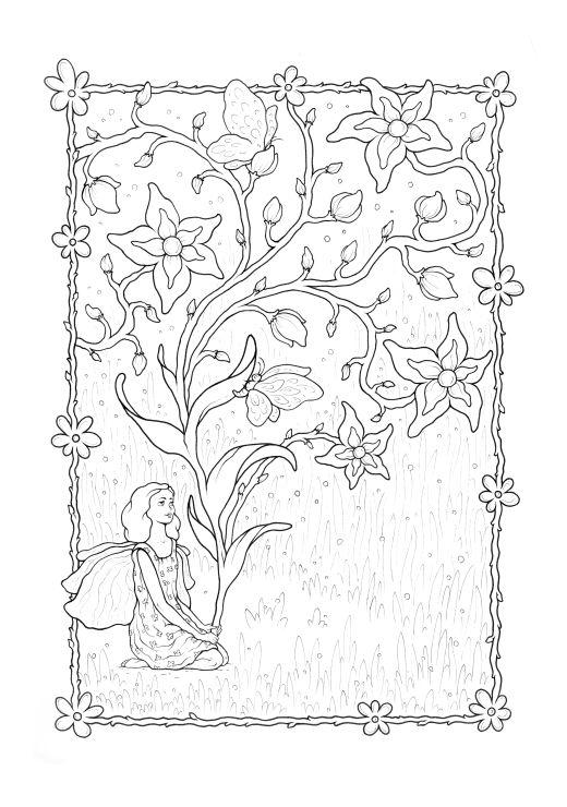 Dessin fleur enchantée à colorier par Konstantinos Liaramantzas