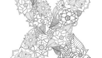 Coloriage Lettre Printemps.Lettre Alphabet Printemps A Imprimer Artherapie Artherapie Ca