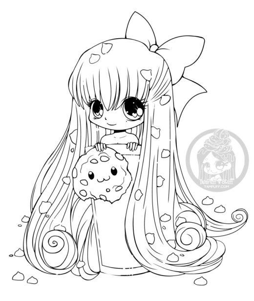 Chibi biscuit dessin manga a imprimer gratuit par YamPuff