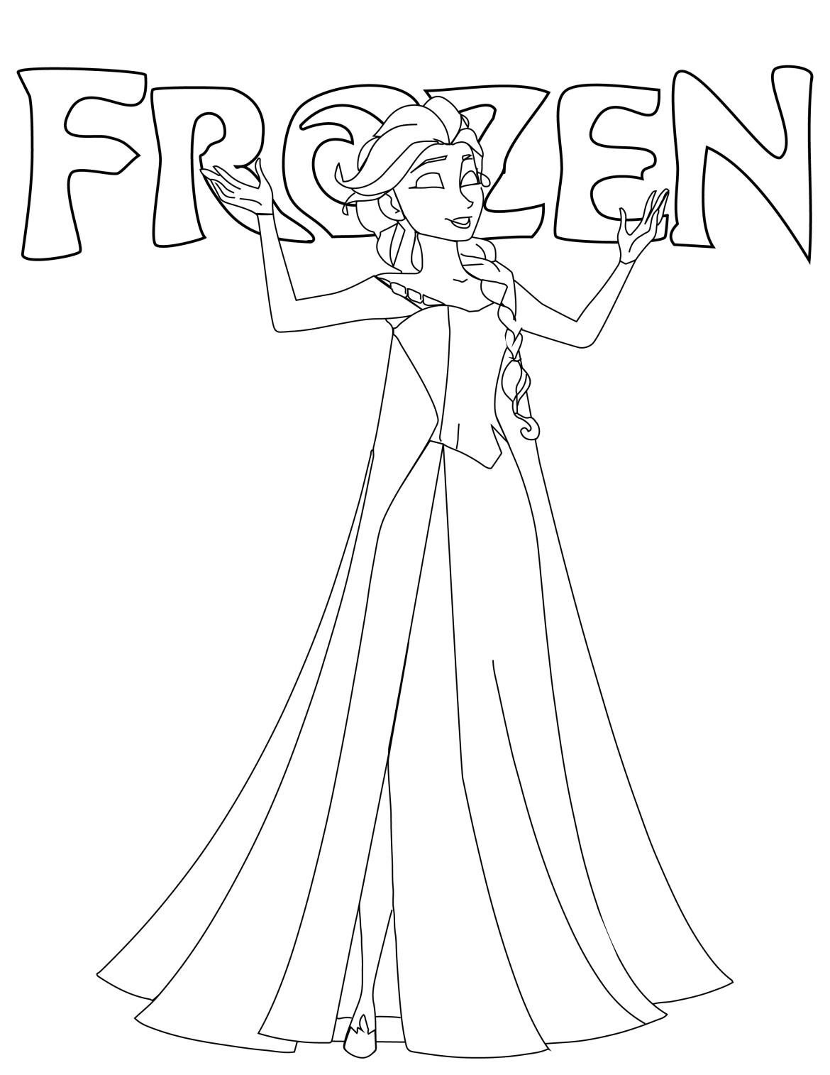 Disney frozen Elsa coloriage noel gratuit à imprimer