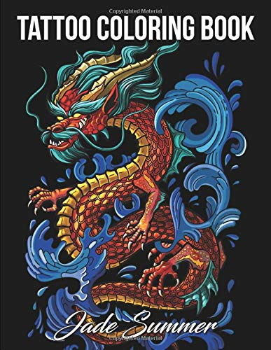 Tattoo Coloring Book - Jade Summer