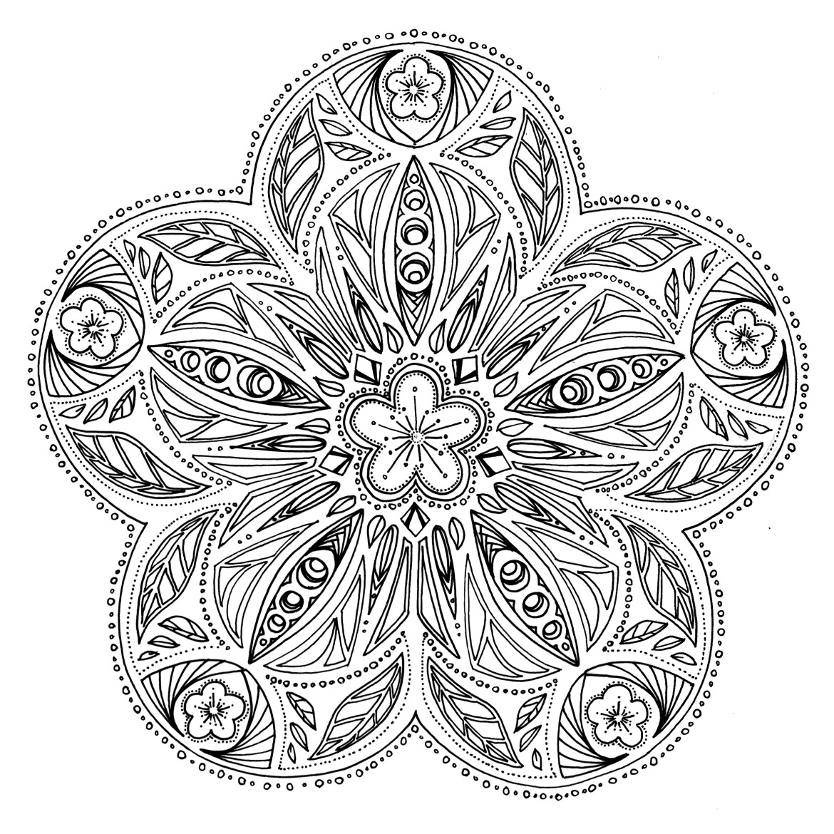 Page par Chocobo free mandalas to colour in printable