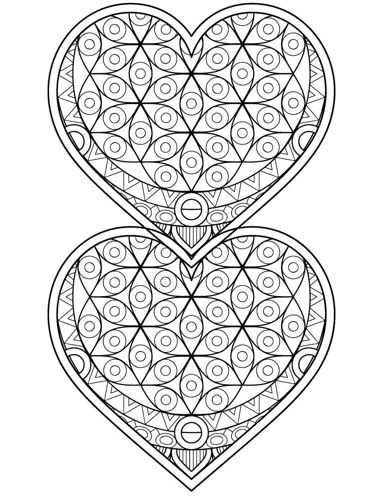 Dessin A Imprimer Coeur Mandalas A Colorier Pour Adulte
