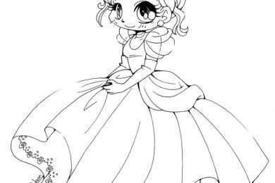 Coloriage de princesse Cendrillon Disney par YamPuff