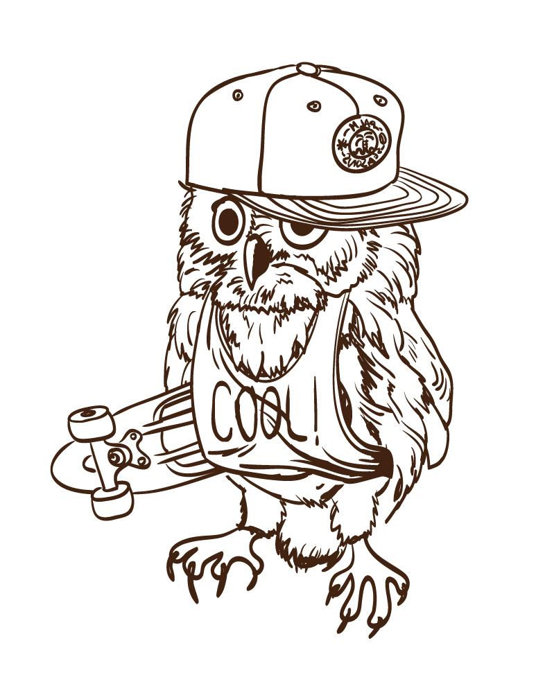 Artherapie page de dessin a imprimer gratuit hibou