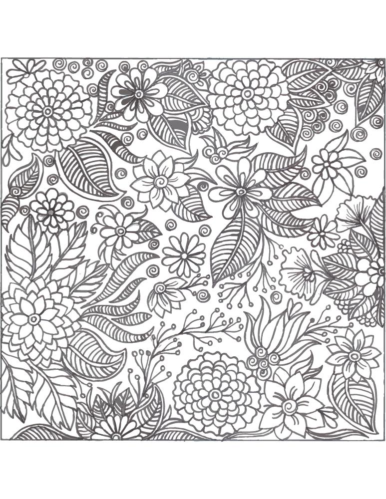 Coloriage Difficile A Imprimer Atelier D Art Thérapie Artherapieca