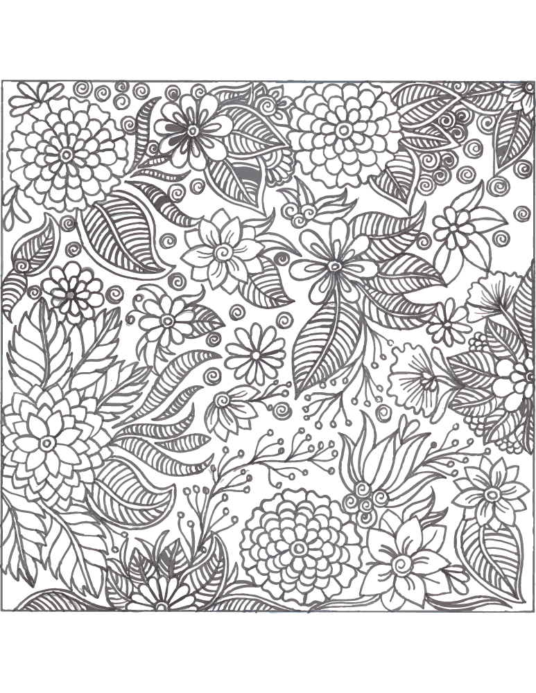 Coloriage difficile a imprimer atelier d art th rapie - Coloriage art therapie a imprimer ...