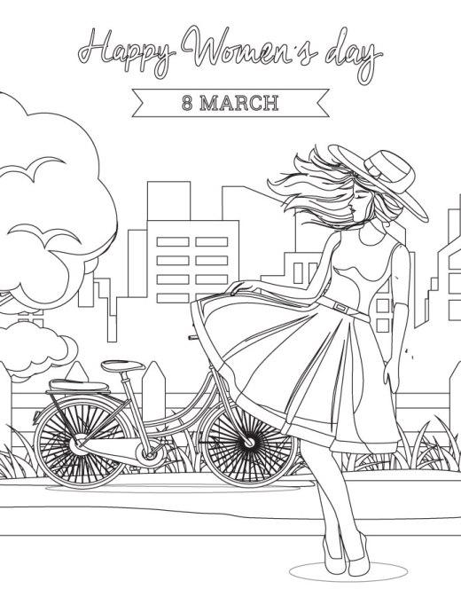 Coloriage spécial pour la journée de la femme 8 mars