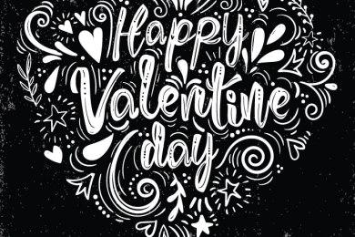 Images love amour typographie fond noir pour adulte
