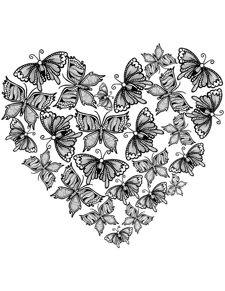 Coloriage Coeur Amour Gratuit.Image De Coeur D Amour Gratuit Tres Difficile A Imprimer