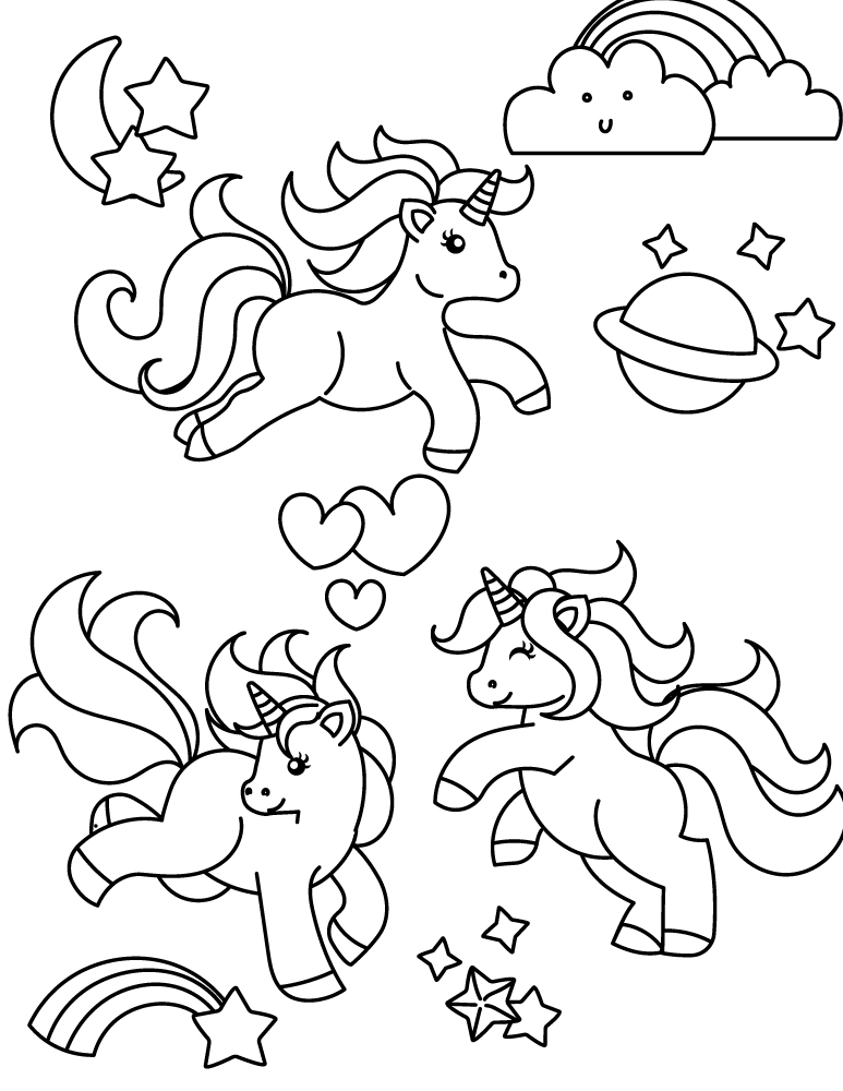 Coloriage facile imprimer my little pony coloring book - Dessin de licorne facile ...