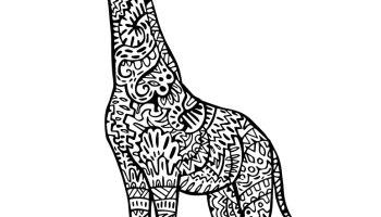 Coloriage Girafe Mandala.Image Du 8 Avril 2016 Artherapie Ca