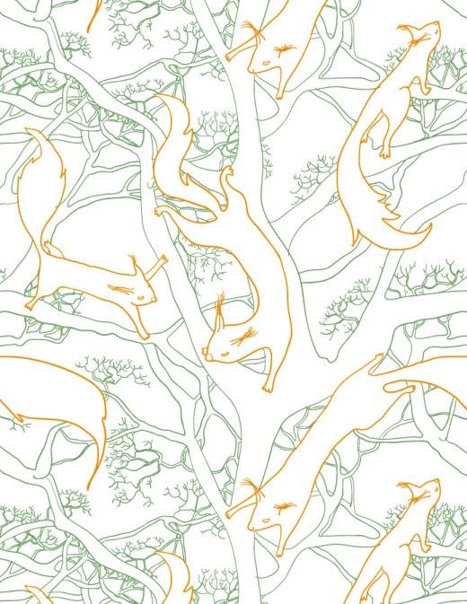 Coloriage animaux pattern en couleurs pour adulte