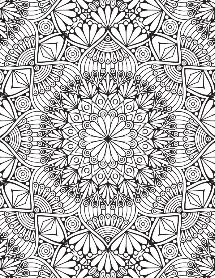 Mandala coloriage zen adulte à imprimer difficile