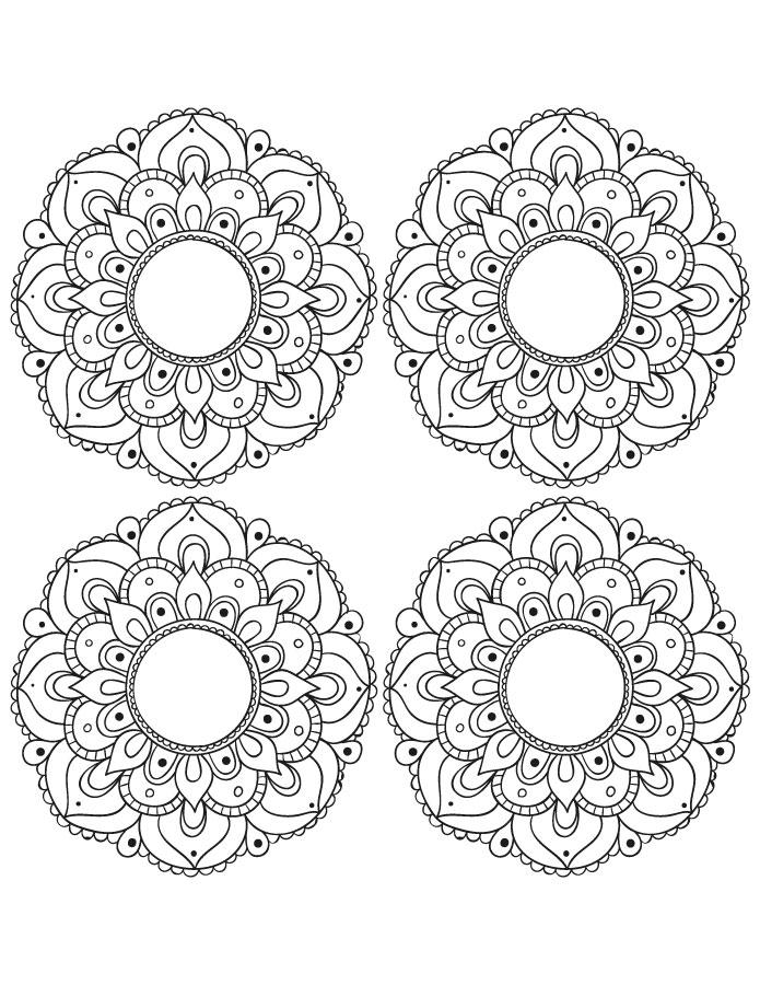 Petits coloriage mandala à imprimer et dessiner gratuit - Artherapie.ca
