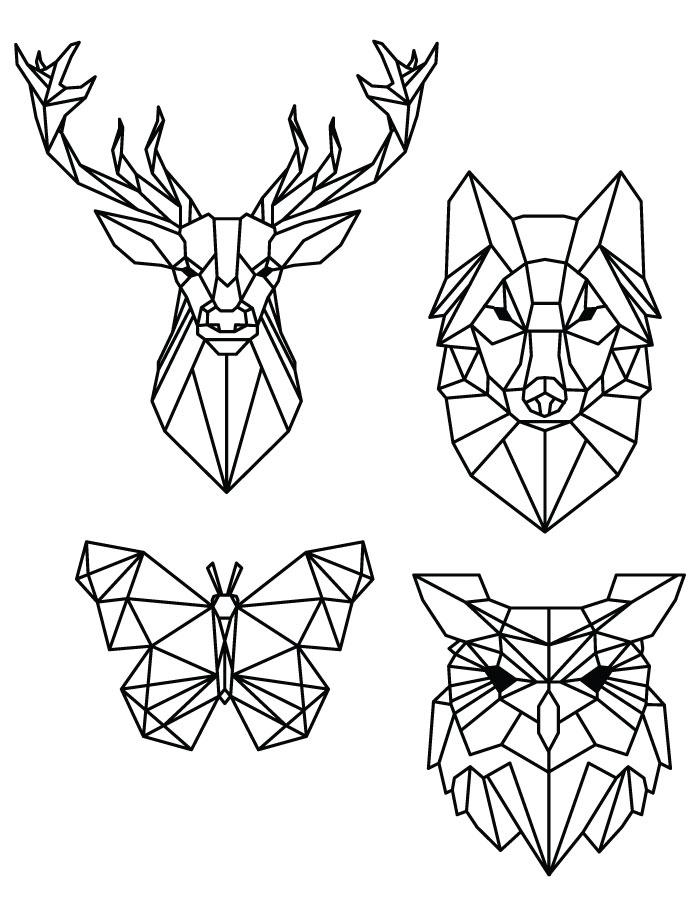 Coloriage pixel art dessin animaux imprimer gratuit - Dessin geometrique a colorier ...