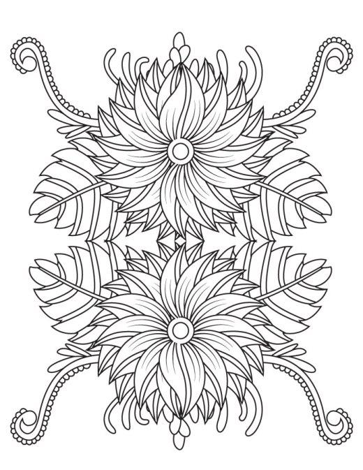 Artherapie coloriage mandala fleurs pour adulte
