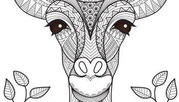 Coloriage Girafe Mandala Tattoo Animal A Imprimer Artherapie Ca