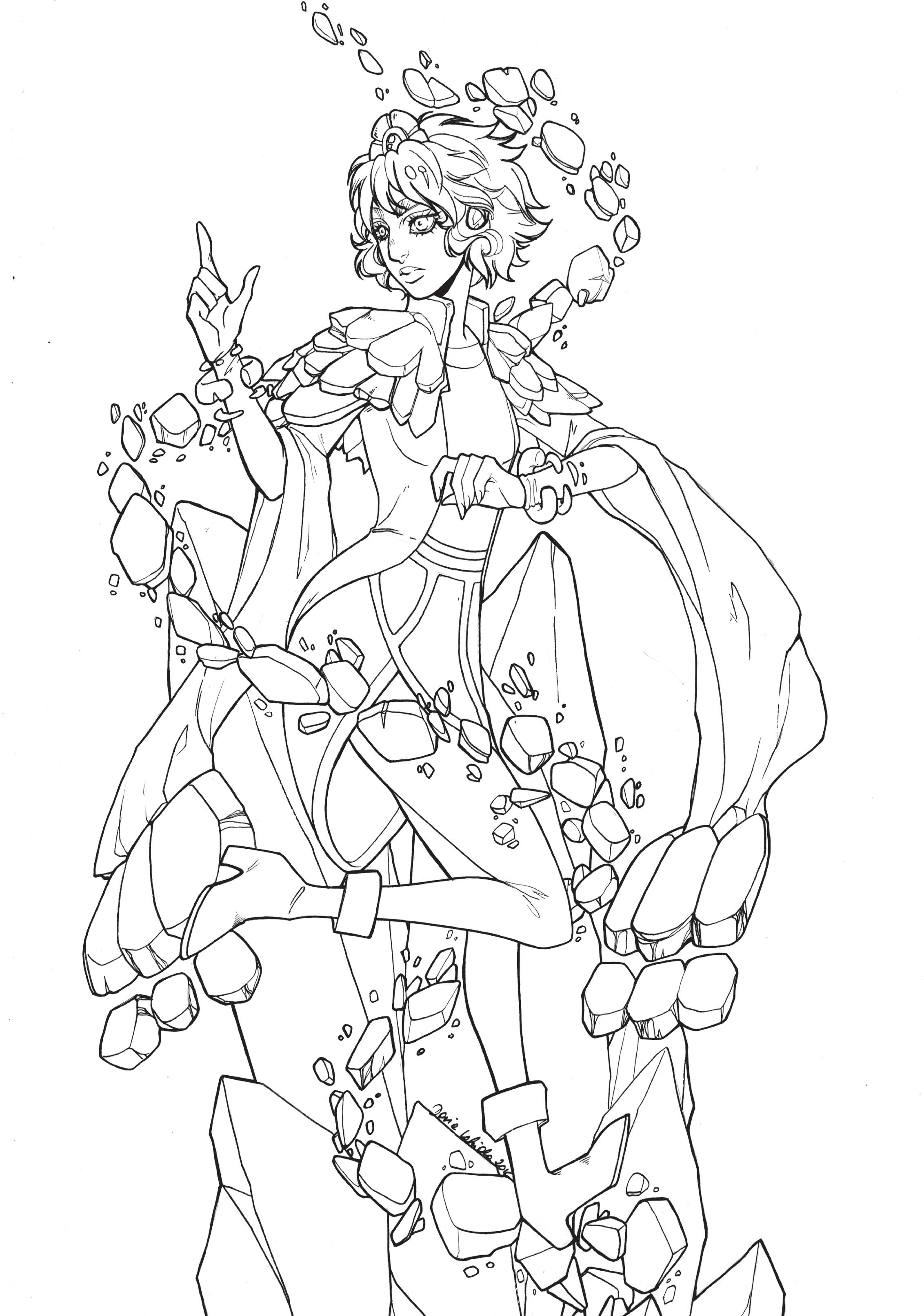 Dessin à colorier lol page sketch par Dar-Chan - Artherapie.ca