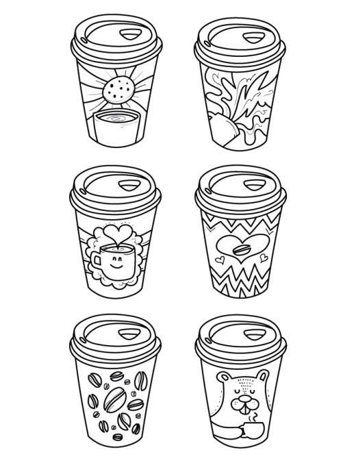 Tasse café gratuit coloriage pour adulte art thérapie dessin