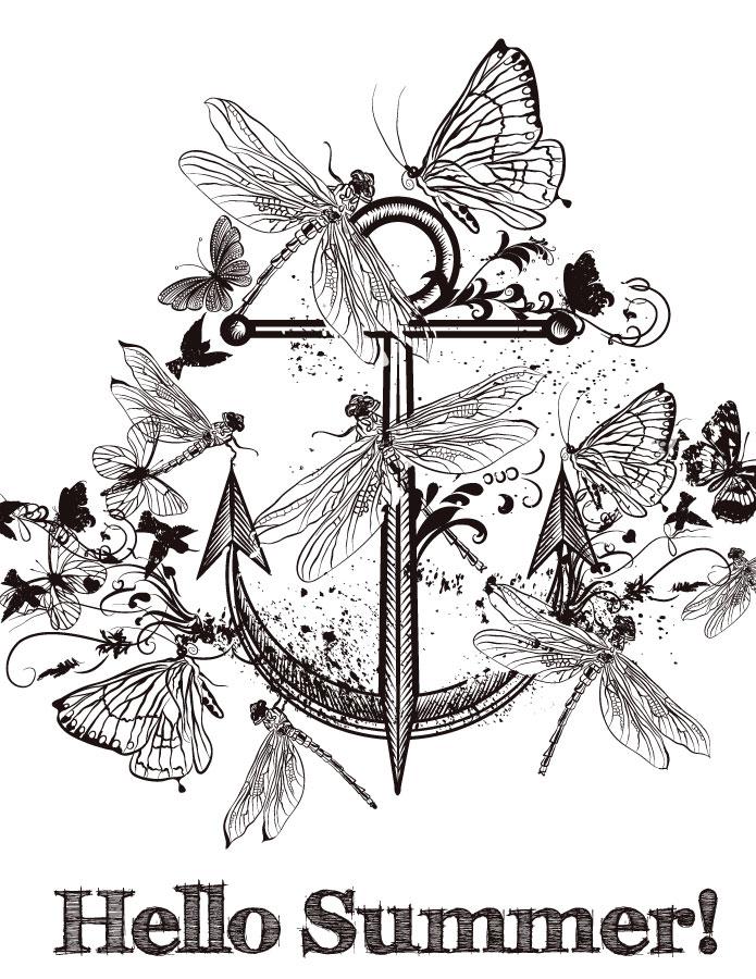 Coloriage a imprimer libellule d'été printable coloring page