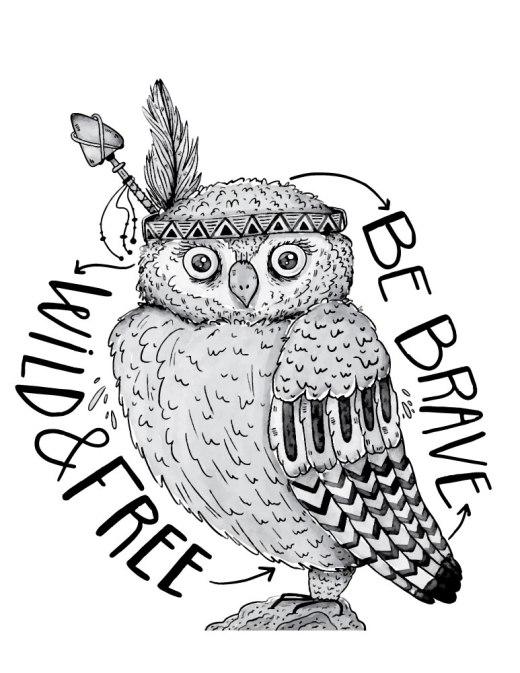 Brave hiboux coloriage animaux à imprimer gratuit