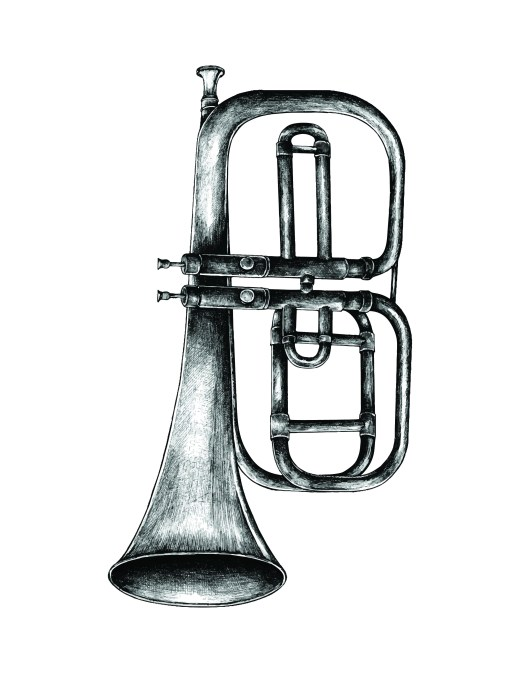 Art thérapie musique jazz trompette à colorier