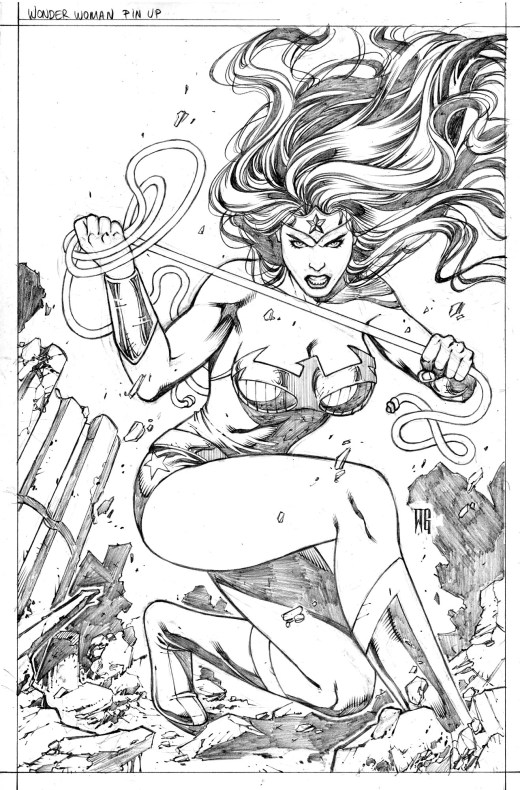 Wonder Woman DC Entertainment coloring sheets par Walter Geovani