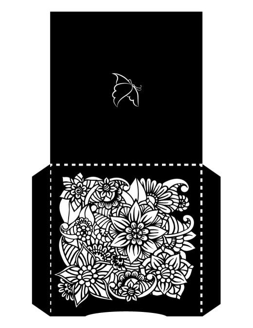 Imprimer un bricolage enveloppes fleurs mandala